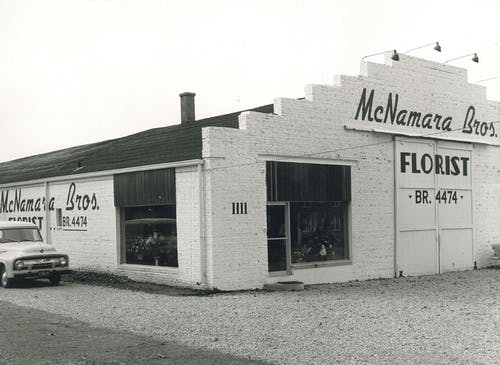 An exterior view of our main location, as seen in the mid-50s